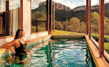 THIS IS THE HIGH LIFE: A Heritage Suite pool at Wolgan Valley.