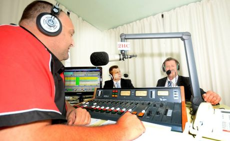 2HC's Stephen Cenatiempo at the debate with Luke Hartsuyker and Matt Thistlethwaite at the 2HC studios. Photo: Leigh Jensen / Coffs Coast Advocate