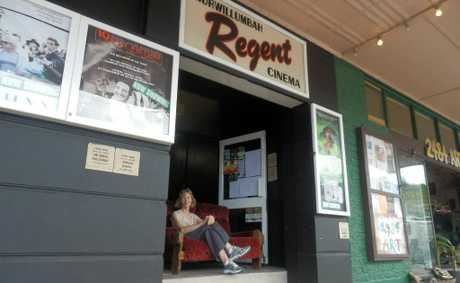 Regent Cinema Murwillumbah patrons and manager Deborah Flannery can rest easy - its lobby once again features a comfortable red couch.
