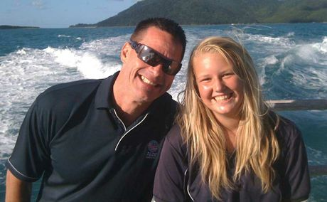 WELL ON HER WAY: PADI Asia Pacific Queensland regional manager Hans Ullrich with Whitsunday teenager Teggun Orth who is one of the youngest PADI junior open water divers in Queensland.