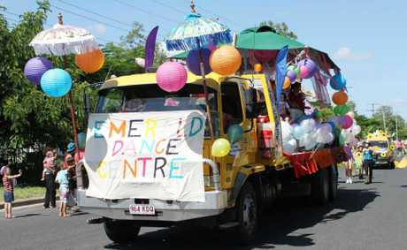 The Emerald Dance Centre took out first prize in the float competition.