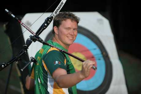 Archer Ryan Tyack, 20, has just returned from the World Junior titles in Poland and returned with a silver medal. Photo: Brett Wortman / Sunshine Coast Daily