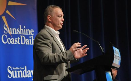 Brett Winkler emerged in the top four of last night's mayoral debate at the Lake Kawana Community Centre.