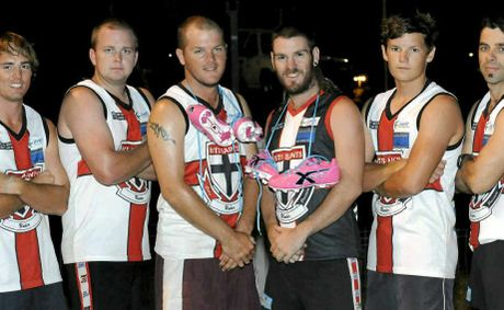 Jamie Cunningham, Simon Clarke, Lucal Hall, Matty Bywaters, Cody Curran and Keith Bilson are raising money for breast cancer.