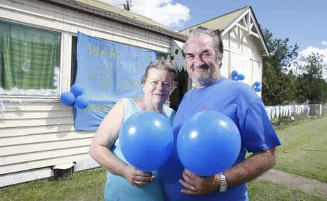 David and Dianne Collins have decorated the front of their house blue to make people aware of Autism month.
