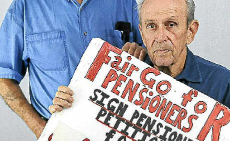 Walter Lees and Pat Kealy want a better deal for pensioners and are calling for support.