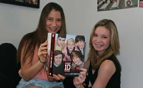 LUCKY GIRLS: Friends Jade Agius and Ashley Semple are heading off to watch One Direction live in Melbourne after winning tickets.