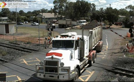 Near-misses at a Central Queensland rail crossing.