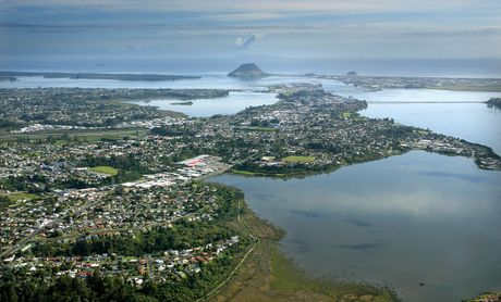 Aerial of Tauranga City. File.