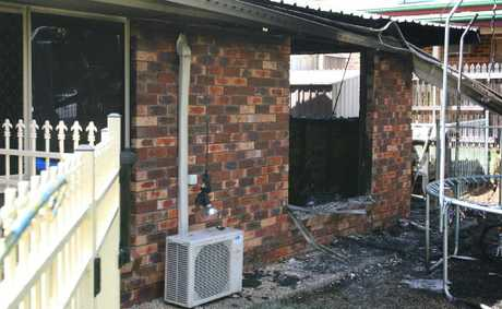 A fire destroyed the inside of a home on Pillich Street, Kawana.
