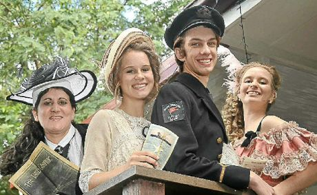 To mark the 100th anniversary of the Titanic sinking, students from Buderim Youth Theatre of Excellence (from left) Peta Beattie, Jade Dempsey, Adam Kronk and Katherine Ernst will attend a movie screening in period dress.
