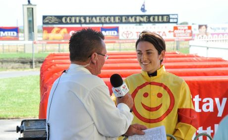 No wonder jockey Tegan Harrison is wearing a smiley face after hearing news country racing prize money will boom.