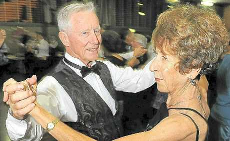 Frank and Nancy Baker on the dance floor at the April Showers Ball held at the Civic Centre.