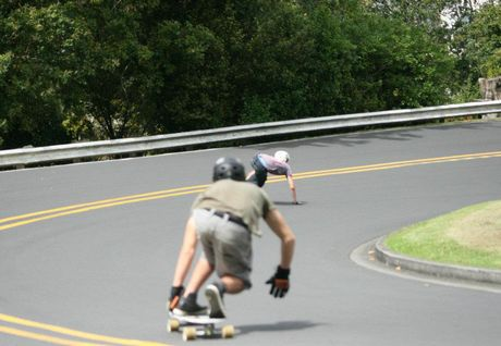 Colonial Road in Birkenhead is popular with long-boarders. (File photo)