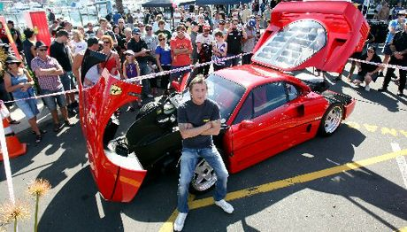 ORGANISER: Phil Rudd with his Ferrari F40. There are only about 1400 of this model Ferrari in the world.