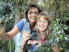 FUN TO BE HAD: Kids Welcome founder Sarah Pye and her 12-year-old daughter Amber Grant have been out sightseeing during the holidays and photographing kangaroos.
