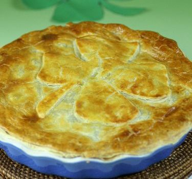 Beef and Guiness Four Leaf Clover pie