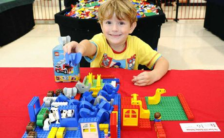 Four-year-old Lachlan Ward, of South Grafton, was the winner of heat three of the Great Lego Building Challenge at Grafton Shoppingworld.