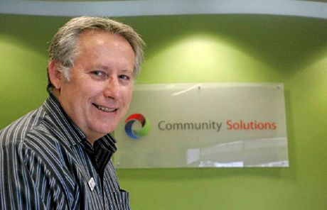 Managing director of Community Solutions David Curd at the Rockhampton office.