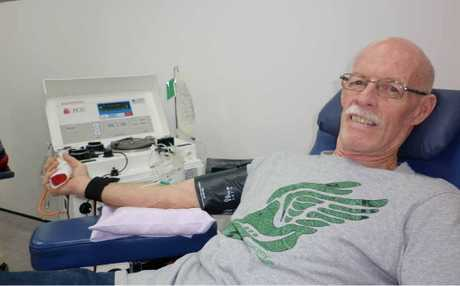 Rockhampton's Mick Matthews knows where the heart of Queensland lies, having made 156 donations and giving plasma every two weeks.
