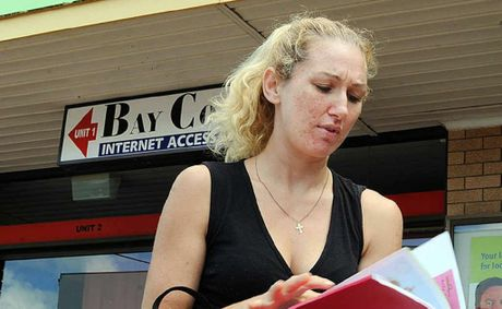 Hervey Bay jobseeker Casey Walters has been hunting for administration work for several months.