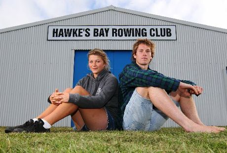 DOUBLE CELEBRATION: Hawke&#39;s Bay rowers Hannah Bailey, left, and Thomas Jenkins were triumphant at Lake Karapiro during the weekend.