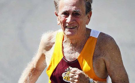 Joe Lewis, 81, won the 1500m and 5000m titles in the 80-85 age group at the Australian Masters Championships.