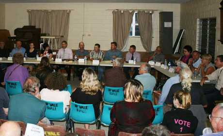 Central Highlands council candidates front up to Gemfields residents' questions and concerns.