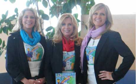 One of the authors Sheryl attended the 2012 Bologna Children's Book Fair with her friends Sherry and Lynda.