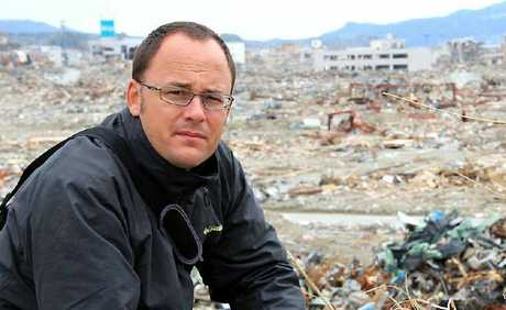 Mark Willacy surveys the devastation caused by the tsunami and earthquake while reporting from Fukushima, Japan last year.