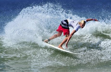 GOING WELL: Mackenzie Christie is through to the last 32 surfers in the qualifying round at the world juniors.