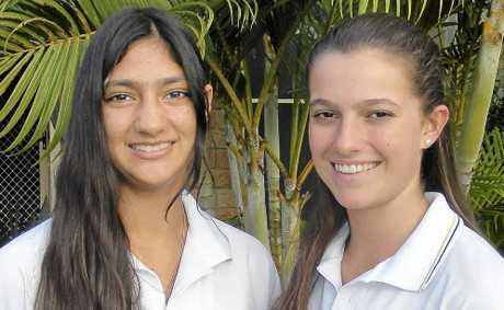 YOUNG LEADERS: Southern Cross School K-12 students Angalee Narayan-Gray (left) and Amelia Perris will be attending Global Young Leaders conferences.