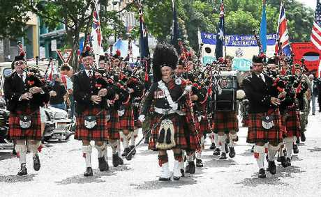 The Lismore City Pipe band has lead Lismores Anzac Day march since 1948. 