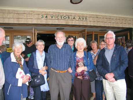 SESSION POSTPONED: Wanganui U3A Film Society members had their film session put on hold until next week. From left are Julia Moodie, Mark and Barbara Humphrey, and Patsy and Maurice Trail. PHOTO/LIN FERGUSON