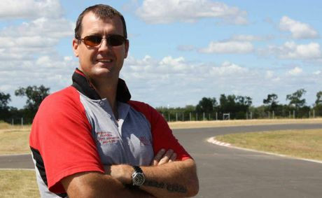 Emerald Karting Club vice president Dean Davies surveys the scene ahead of this weekend's public unveiling of the Central Highlands motor sport facility.