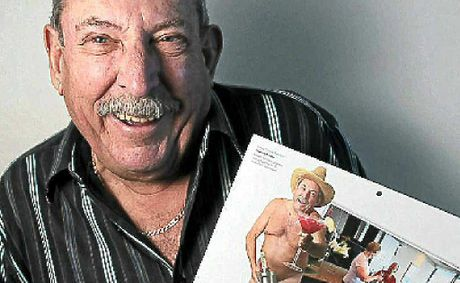 Graeme Preston with his pin-up.