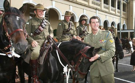 Victoria Cross recipient Corporal Ben Roberts-Smith at the Ipswich Girls' Grammar School Anzac Day service.