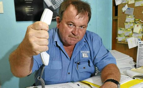 PHONE FURY: Luxfield Communications managing director Keith Baldwin is upset the council has chosen an out-of-town company for its Bargara phone upgrade.