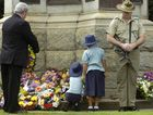 Riverside Christian College students lay a wreath at the Anzac Day Maryborough commemoration.