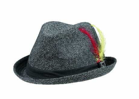 Mambo feather trilby hat, $19.99 from The Warehouse
