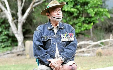 Veteran Len Usher who served with the 2RAR in Malaya.