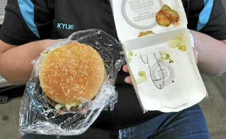 Kylie Steger was disgusted to find a drawing of a penis on the inside of a Hungry Jack's burger box.