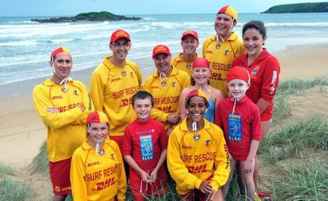 Coffs Harbour Surf Life Saving Club members saved a group of backpackers on Park Beach on Sunday.