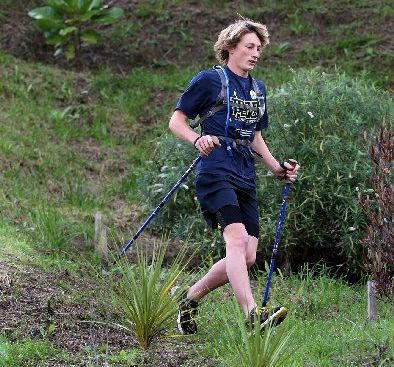 BUSY BLOKE: Ben Andrews completes an adventure racing training session before heading to football practice.