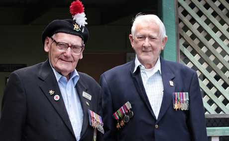 LEST WE FORGET: Woodridge RSL members Jim Smith and Charles Hay will both be remembering their mates today.
