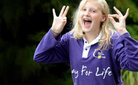 Elizabeth Isaac,11, of Alstonville lost an index finger after being diagnosed with a rare form of cancer. Elizabeth will take part in Relay for Life.