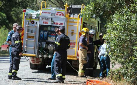 RETRIEVAL: Emergency crews preparing to retrieve the body of a 51-year-old man who drowned at Shute Harbour on Sunday.