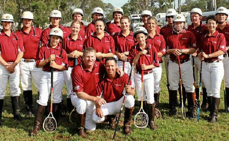 Queensland players from Tansey club, (back, from left) Grant Carroll, Trent Collins, Tom O'Neill, Andrew Phillips, Byron Davison, Jason Gehrke, Matt Johnson, Shane Gehrke, John O'Neill, Matt Davison, Bruce McAlister, Luke Sutton, (middle) Tom Sutton, Emma Hafey, Kristie Burns, Sydnee Doolan, Jake Sargood, Katie Grimmond, Steve Collins, Glenys McAlister, (front) Justin Hafey and Clayton Sargood. Rachel Doyle and Tory Latham are also in the team