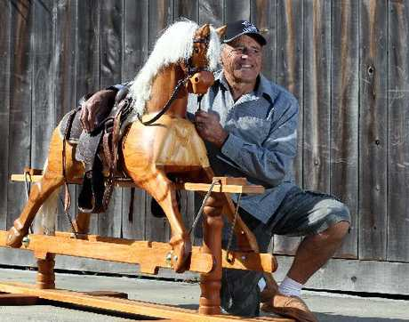 Dave Whitaker has dedicated more than 500 hours to complete this rimu and macrocarpa rocking horse.