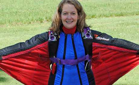 Somerset candidate Kirsten Moriarty is a keen skydiver and wingsuit user.